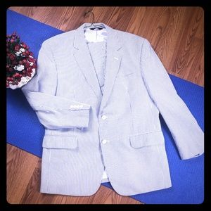 Jos A. Bank blazer and Pants striped SZ